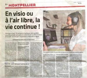 Article du midi libre-hypnose Montpellier